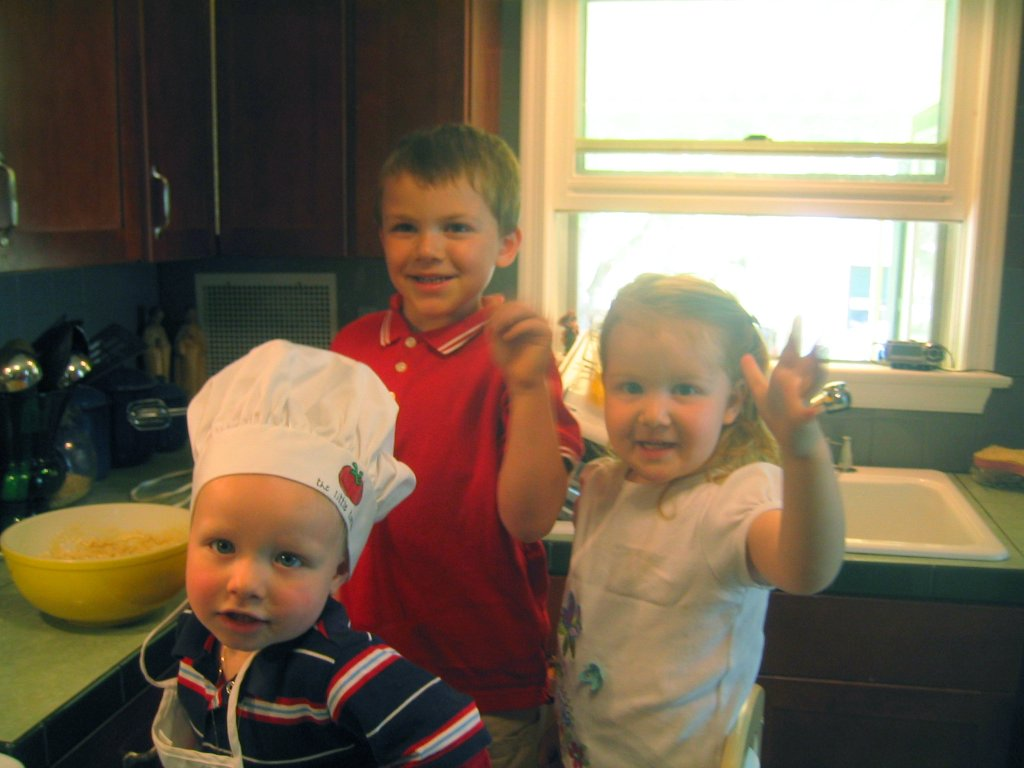 The cooks: Theo, Collin and Callie.
